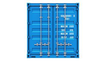 acton metal storage container w12